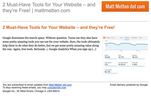 e-newsletter alternative feedburner
