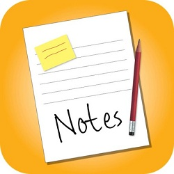 notes on an ipad 2