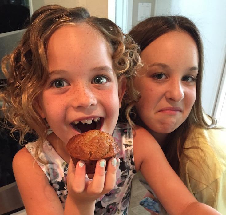 Dairy Free Banana Chocolate Chip Muffins